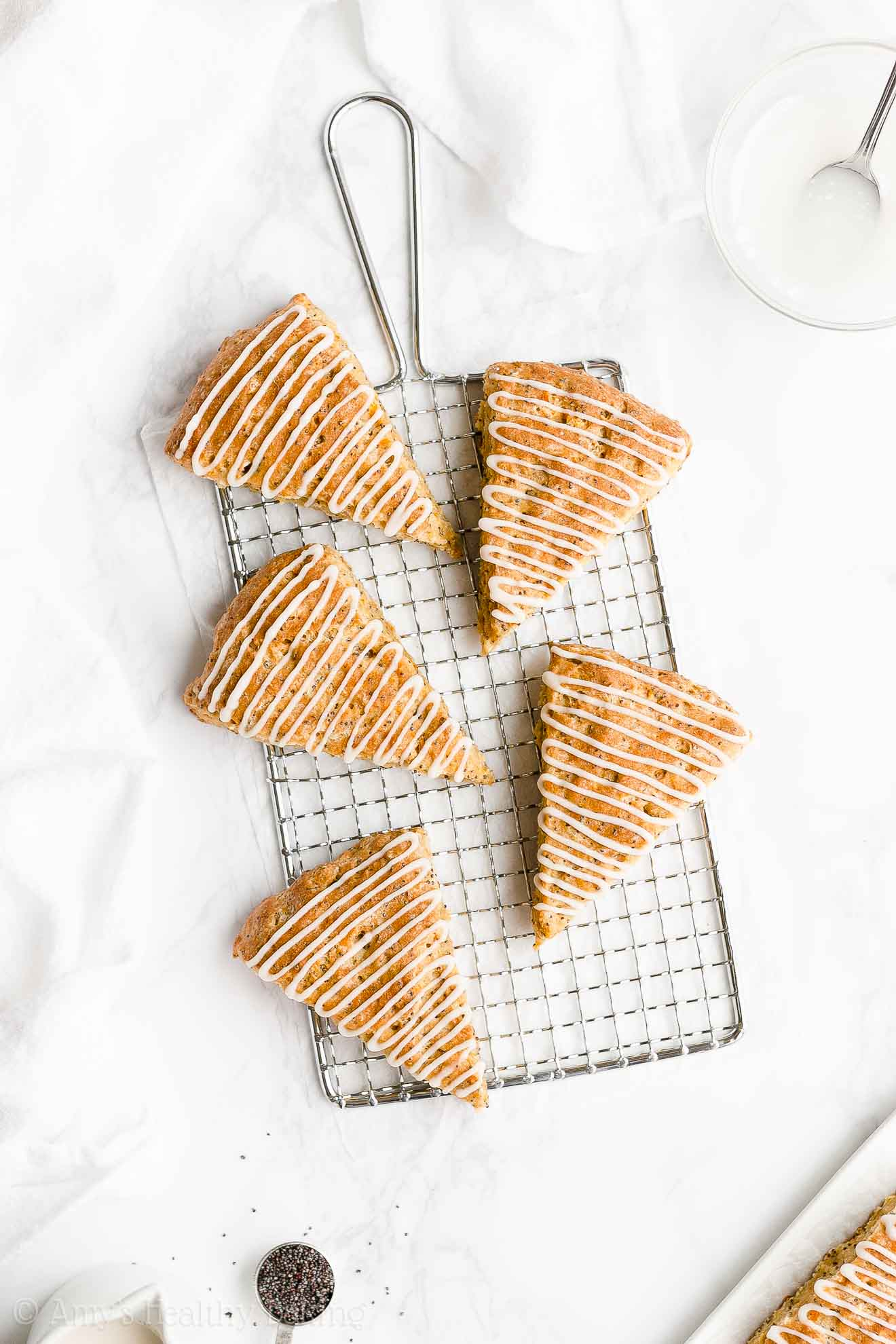 Easy Healthy Clean Eating Moist Low Calorie Orange Poppy Seed Scones