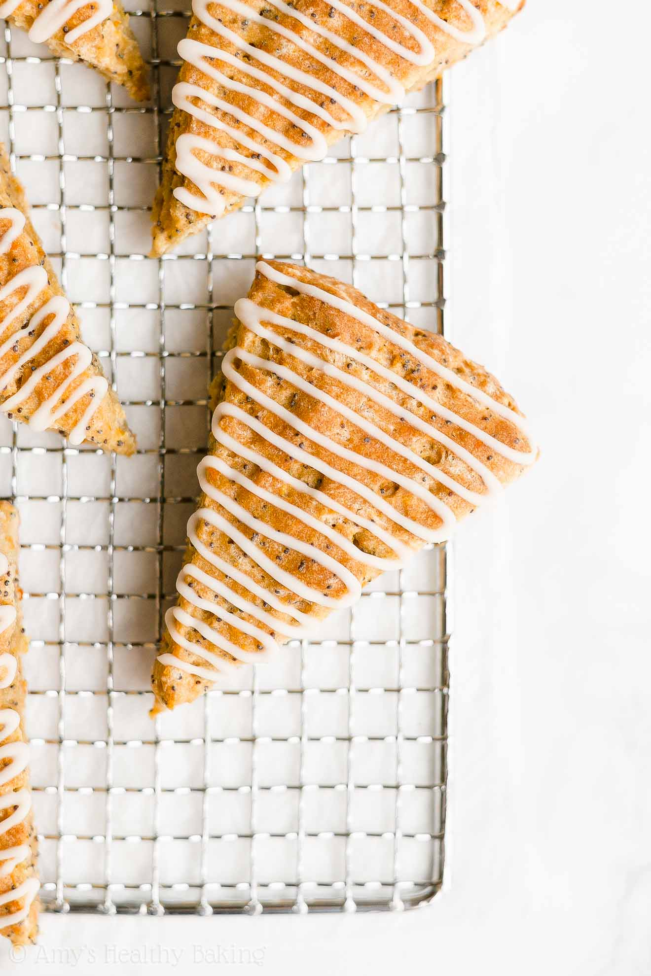 Easy Healthy Whole Wheat Low Fat Low Sugar Orange Poppy Seed Scones