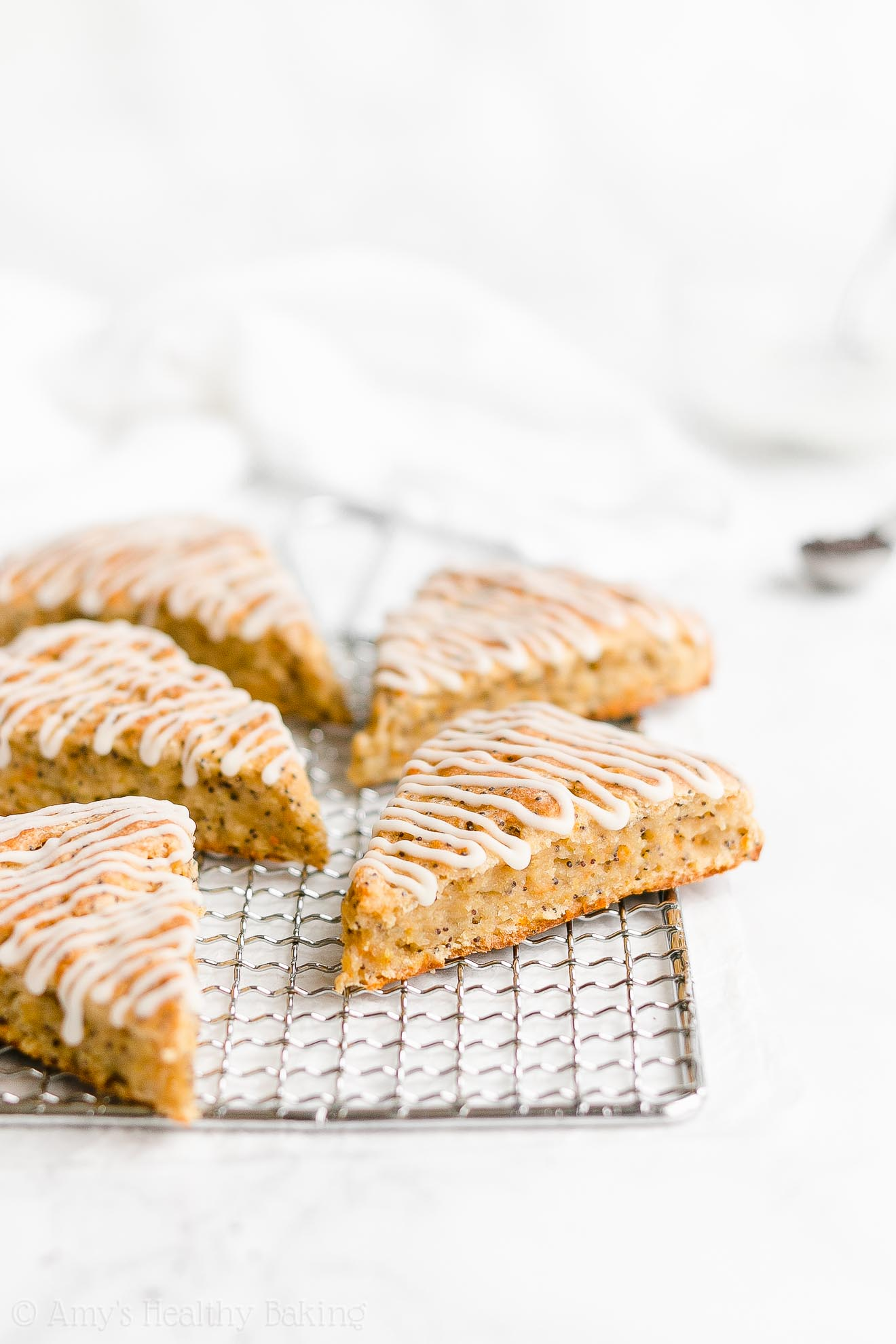 Easy Healthy Gluten Free Dairy Free Moist Orange Poppy Seed Scones