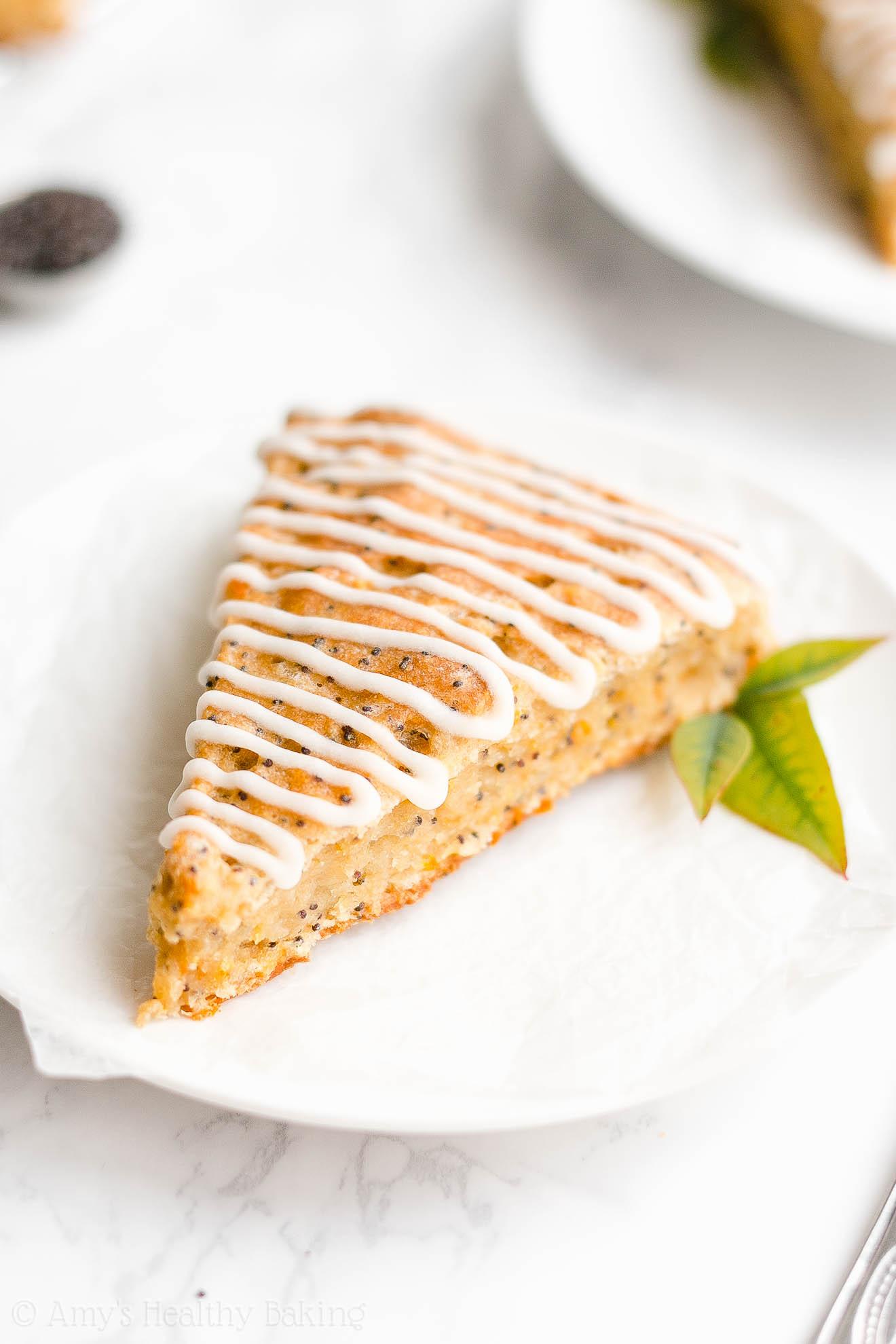 Easy Healthy Gluten Free Moist Greek Yogurt Orange Poppy Seed Scones