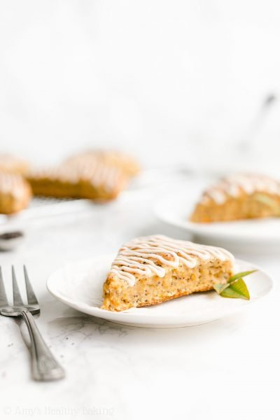 Healthy Orange Poppy Seed Scones