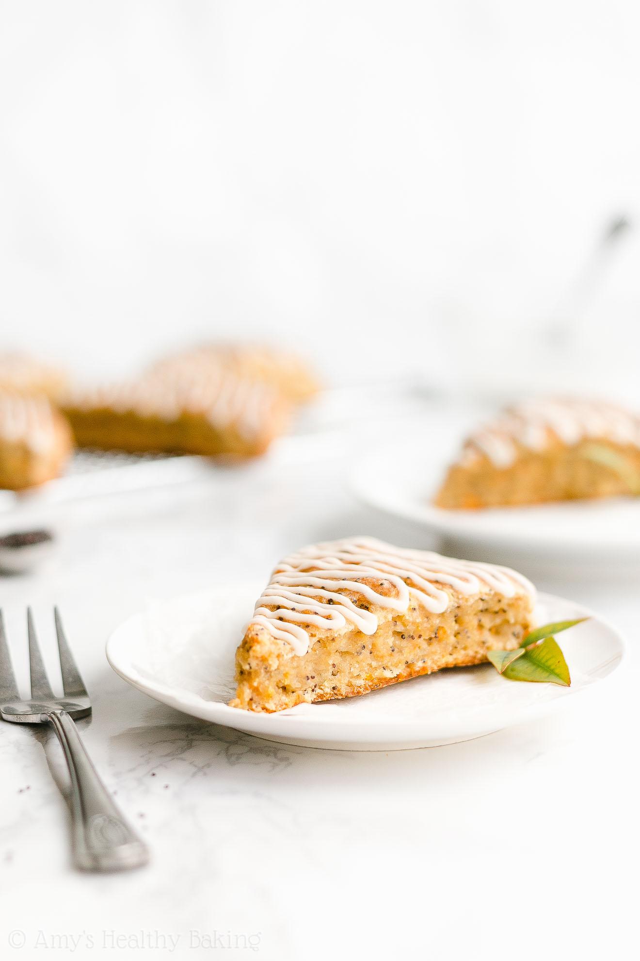 Easy Healthy Gluten Free Vegan Moist Low Fat Orange Poppy Seed Scones