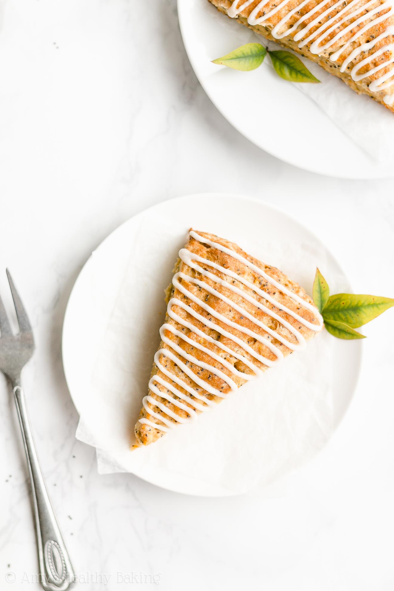 Easy Healthy Clean Eating Low Fat Greek Yogurt Orange Poppy Seed Scones