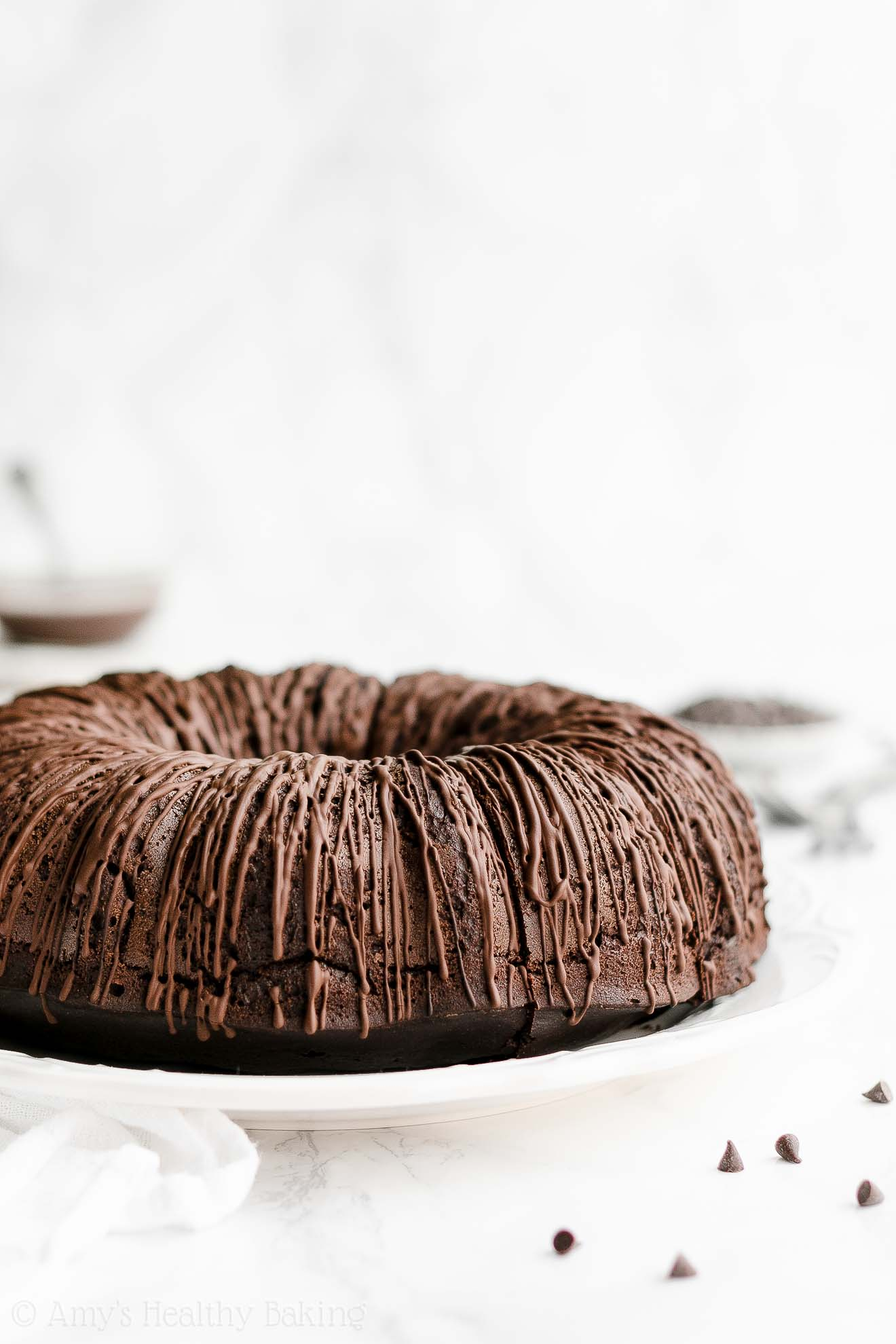ULTIMATE Best Ever Easy Healthy Moist Low Fat Chocolate Fudge Bundt Cake