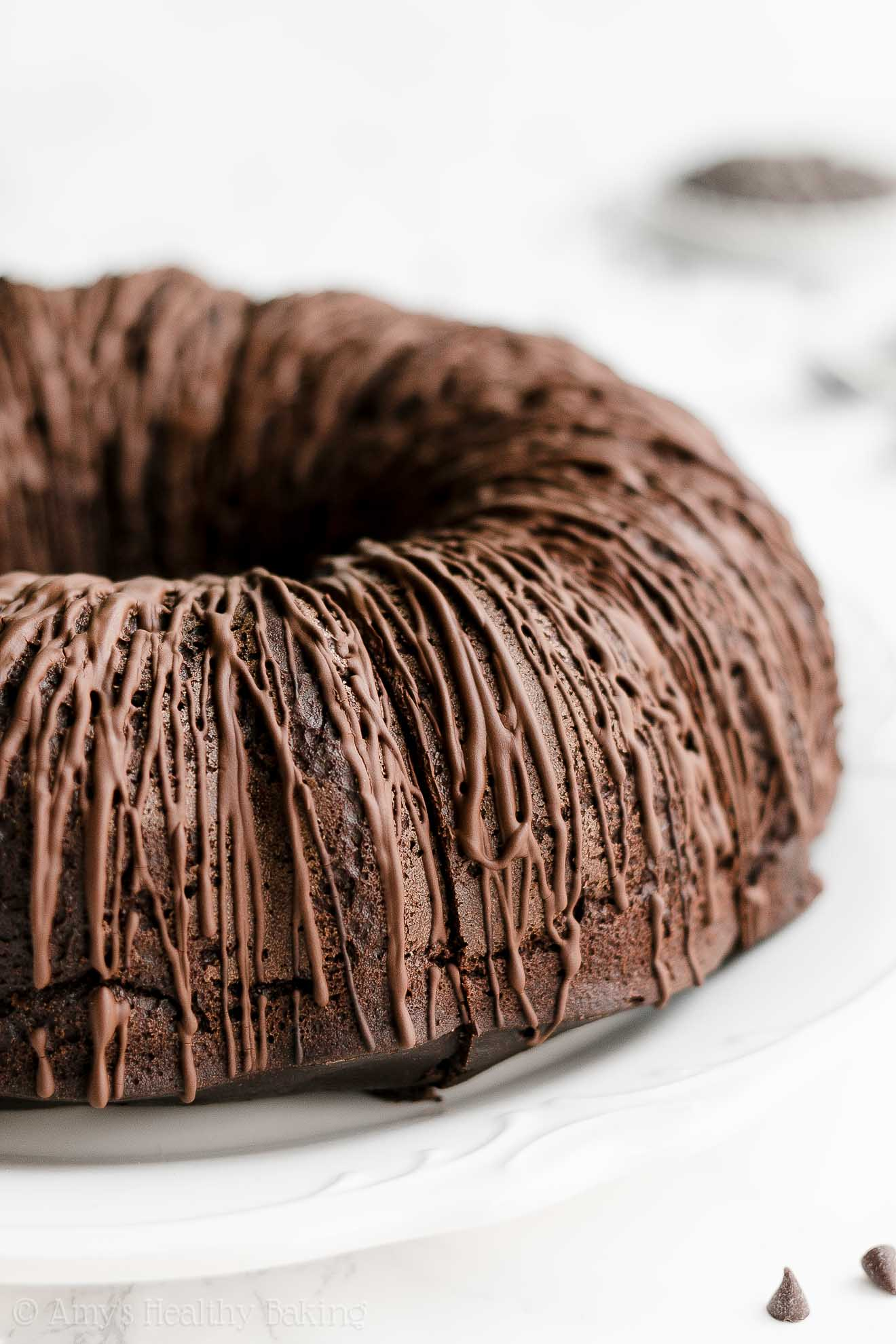 ULTIMATE Best Ever Easy Healthy Clean Eating Moist Chocolate Bundt Cake