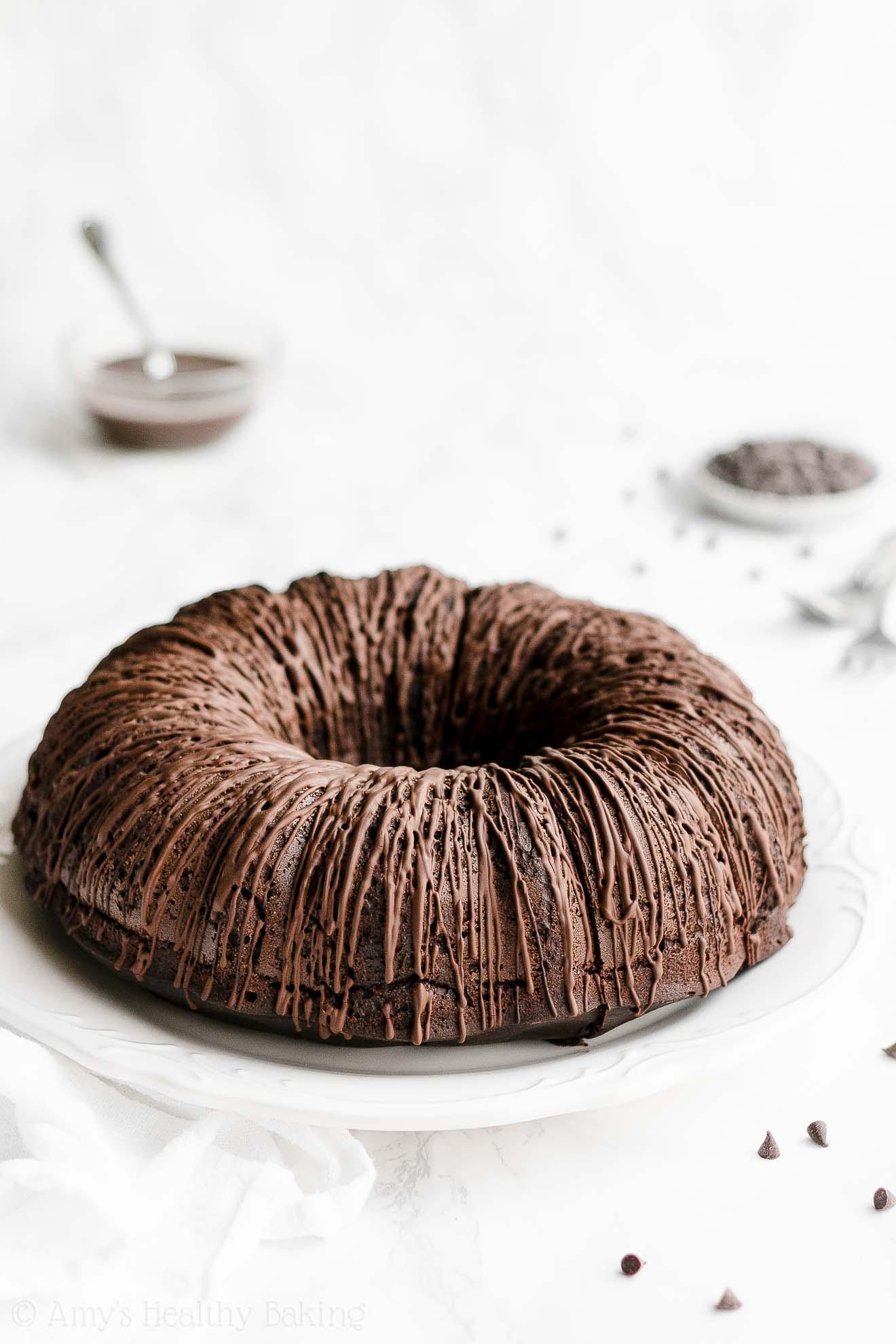 ULTIMATE Best Ever Healthy Gluten Free Sugar Free Chocolate Bundt Cake