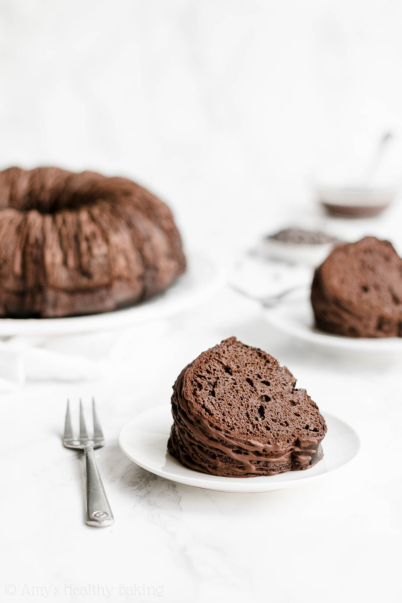 ULTIMATE Best Ever Healthy Chocolate Bundt Cake with Weight Watchers Points