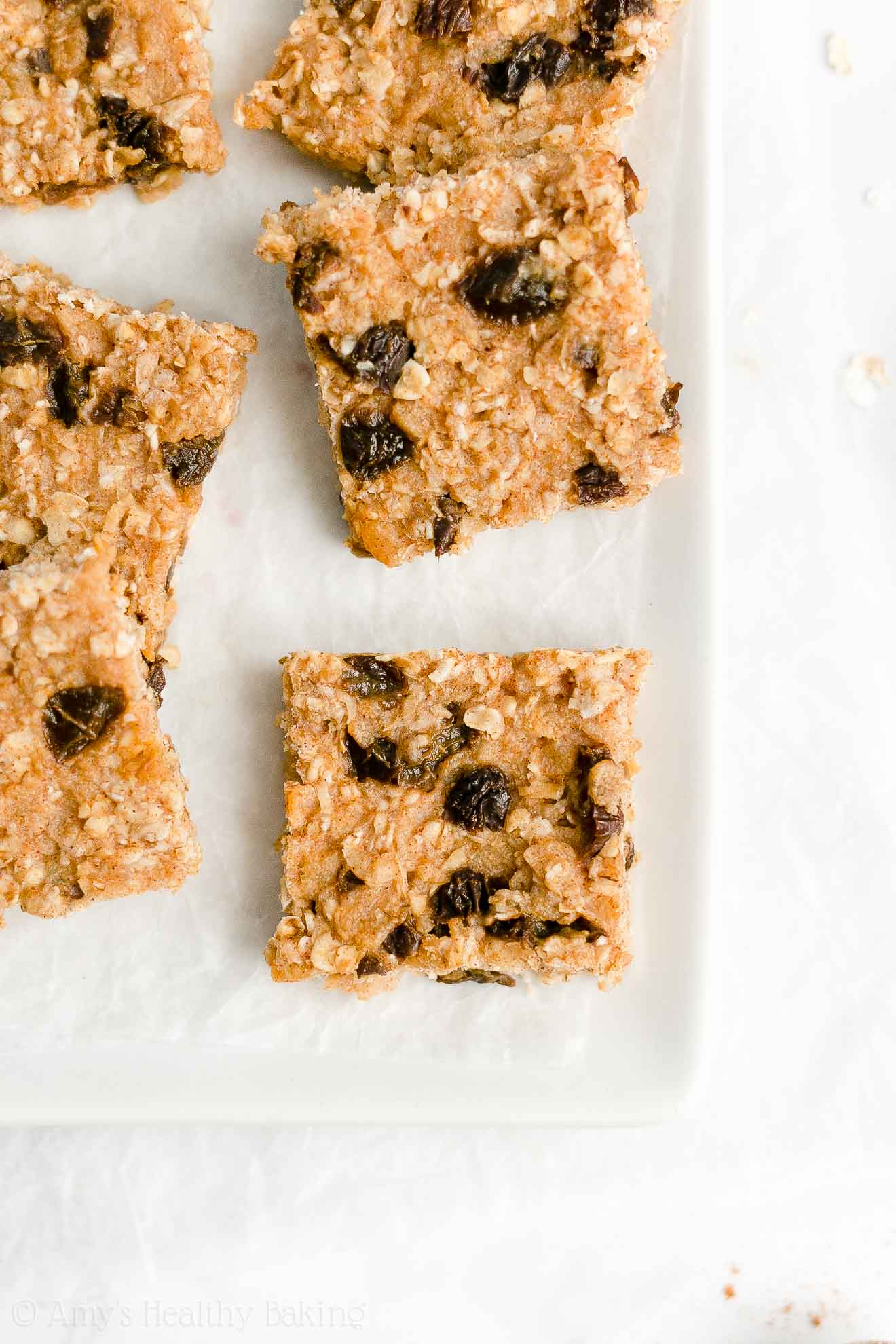 Best Easy Healthy Homemade Low Calorie Chewy Oatmeal Raisin Granola Bars
