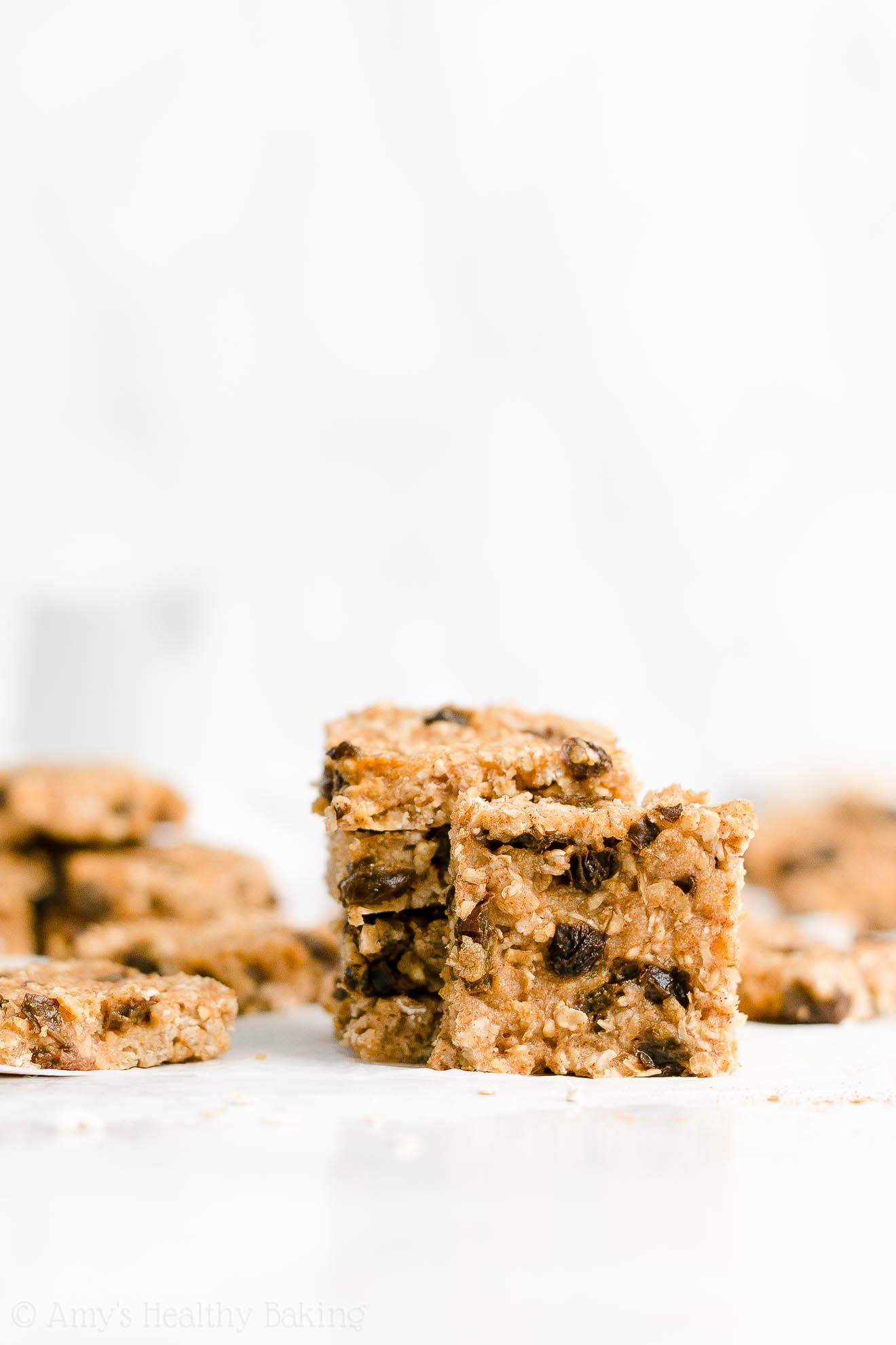 Easy Healthy Weight Watchers Low Fat Chewy Oatmeal Raisin Granola Bars