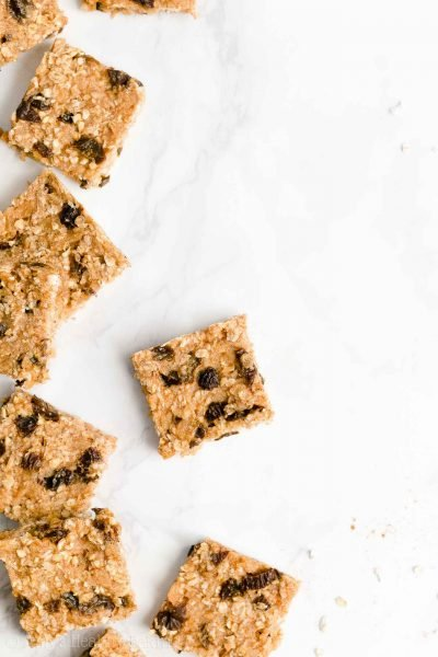 Healthy Oatmeal Raisin Granola Bar Bites