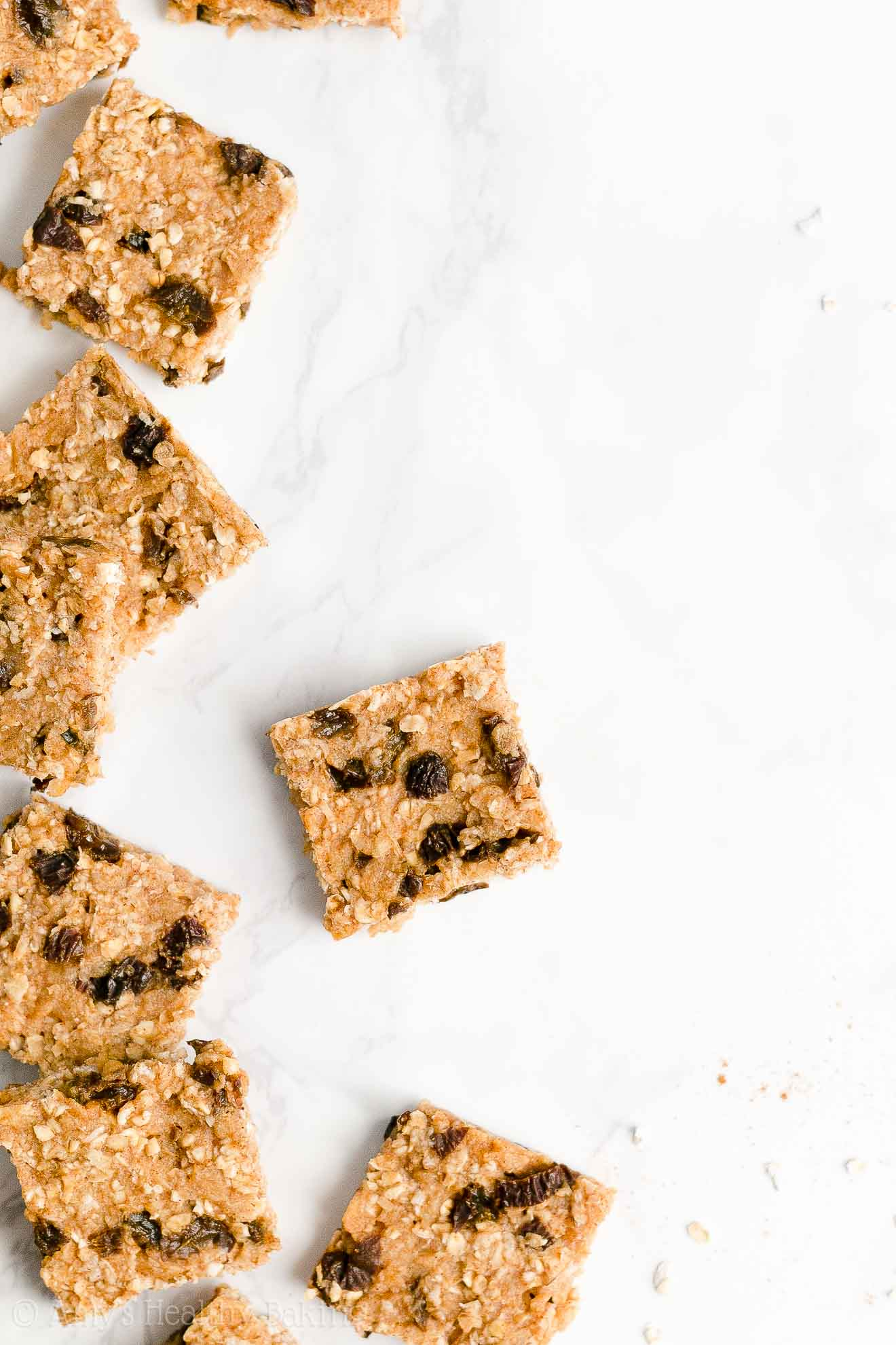 Easy Healthy Clean Eating Homemade Low Fat Oatmeal Raisin Granola Bars