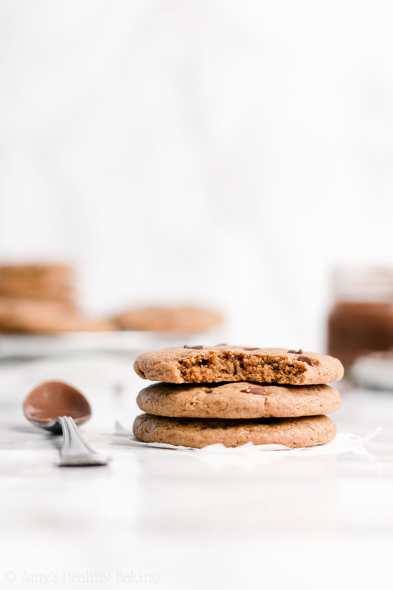 Easy Healthy Weight Watchers Flourless Nutella Chocolate Chip Cookies
