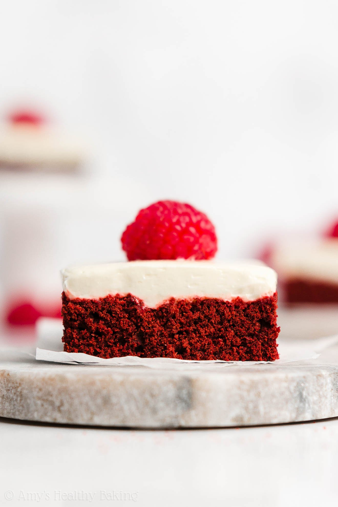 Best Easy Healthy Red Velvet Cookie Bars + Greek Yogurt Cream Cheese Frosting
