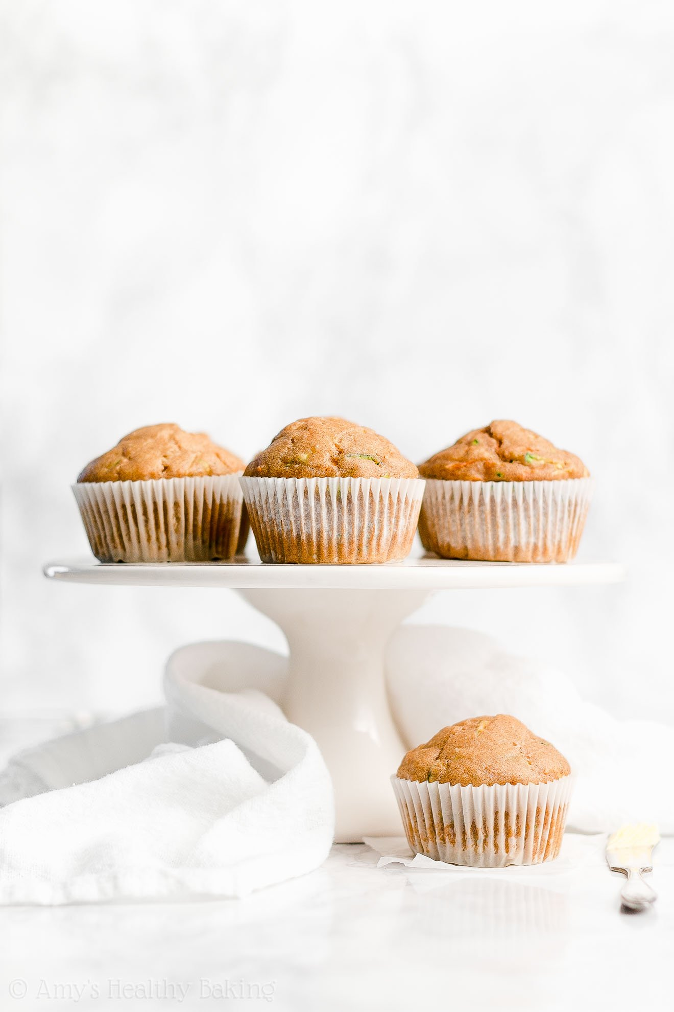 Easy Healthy Low Calorie Whole Wheat Spiced Carrot Zucchini Muffins