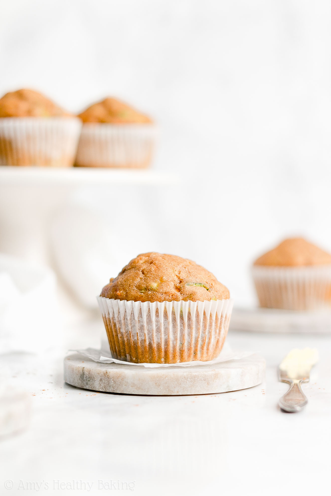 Easy Healthy Clean Eating Whole Wheat Moist Spiced Carrot Zucchini Muffins