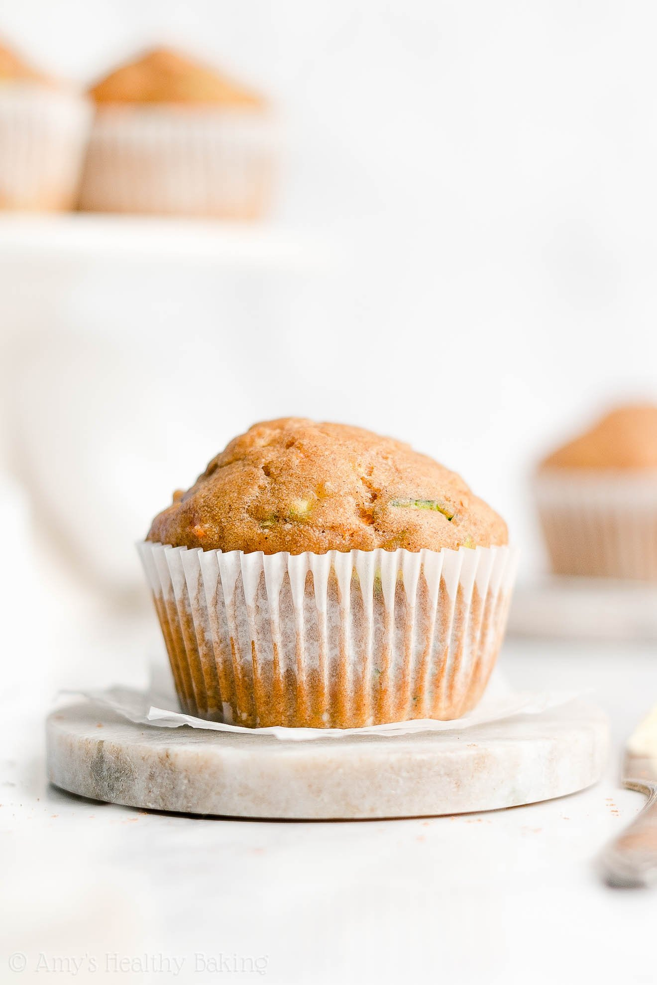 Easy Healthy Low Fat Low Sugar Clean Eating Spiced Carrot Zucchini Muffins