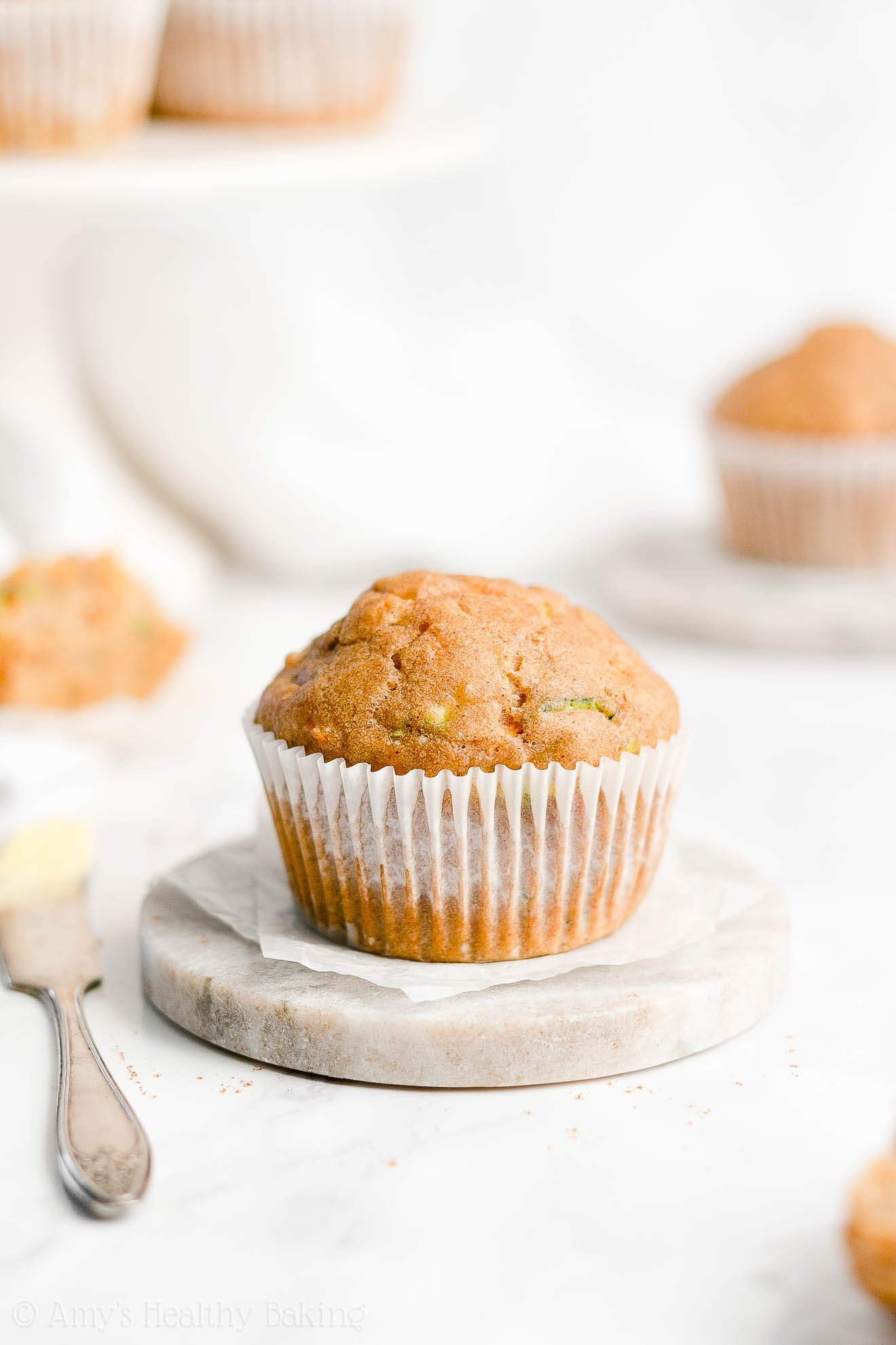 Easy Healthy Gluten Free No Sugar Moist Spiced Carrot Zucchini Muffins
