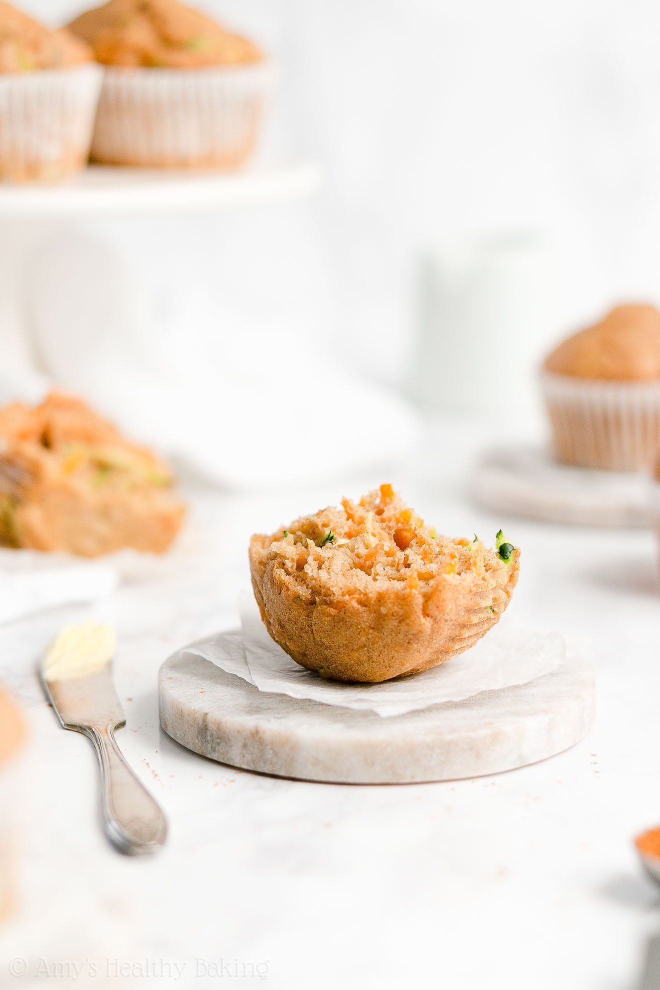 Easy Healthy Gluten Free Sugar Free Moist Spiced Carrot Zucchini Muffins