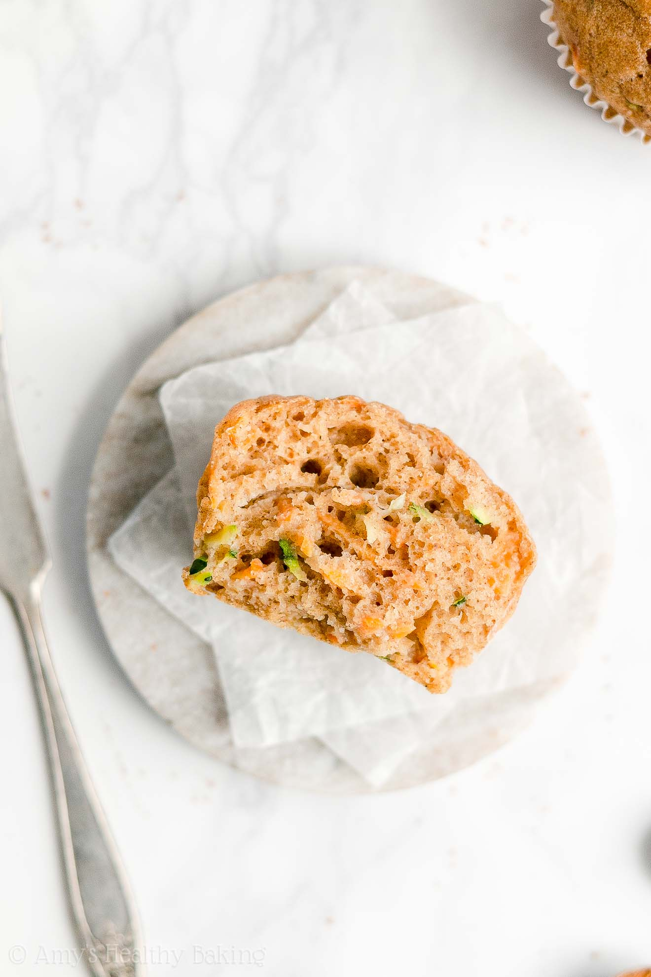 Easy Healthy Low Calorie Whole Wheat No Sugar Spiced Carrot Zucchini Muffins