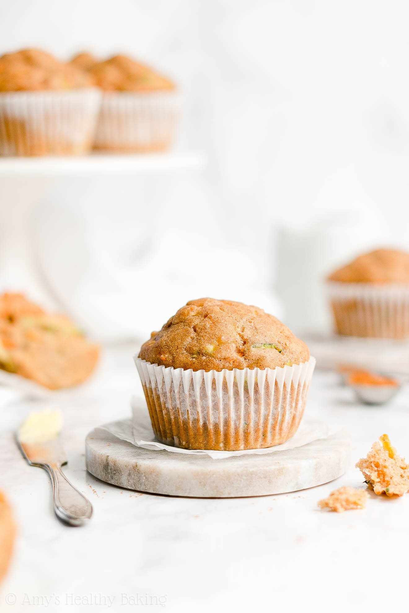 Easy Healthy Clean Eating Sugar Free Moist Spiced Carrot Zucchini Muffins