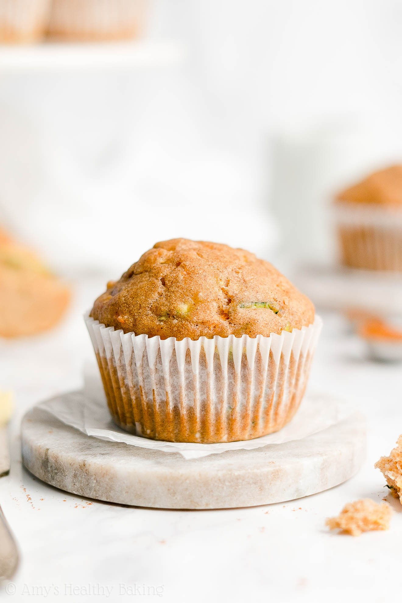 Best Easy Healthy Clean Eating Sugar Free Spiced Carrot Zucchini Muffins