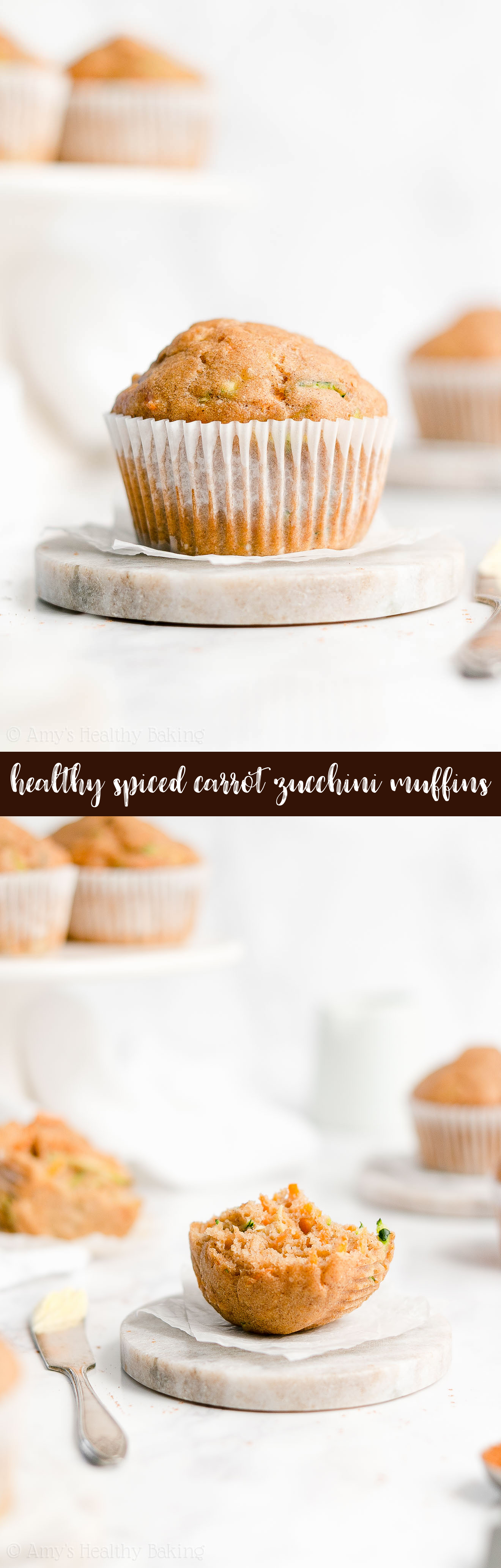 Best Ever Easy Healthy Clean Eating Sugar Free Spiced Carrot Zucchini Muffins