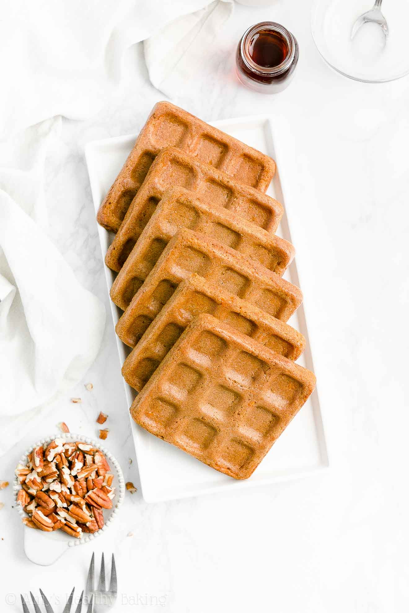 Easy Healthy Clean Eating Crispy Fluffy Whole Wheat Carrot Cake Waffles