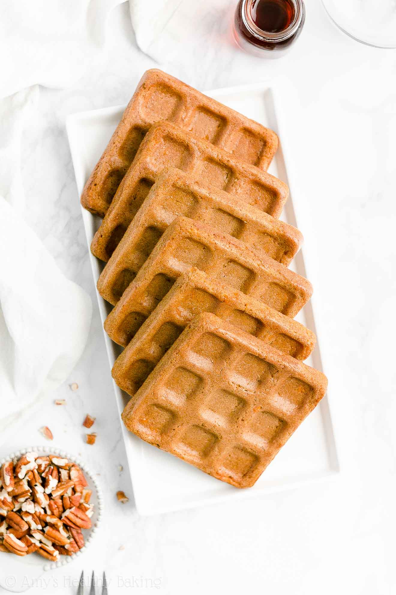 Best Easy Healthy Homemade Fluffy Crispy Carrot Cake Waffles for Easter Brunch