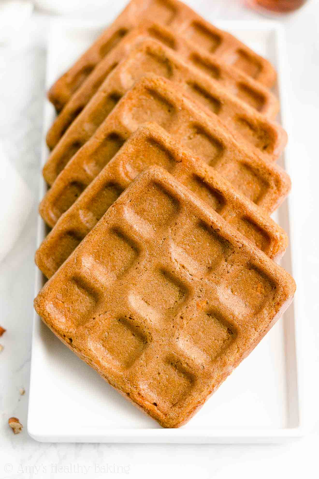 Easy Healthy Homemade Gluten Free Fluffy Crispy Carrot Cake Waffles