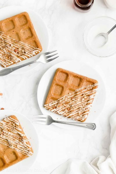 Healthy Carrot Cake Waffles