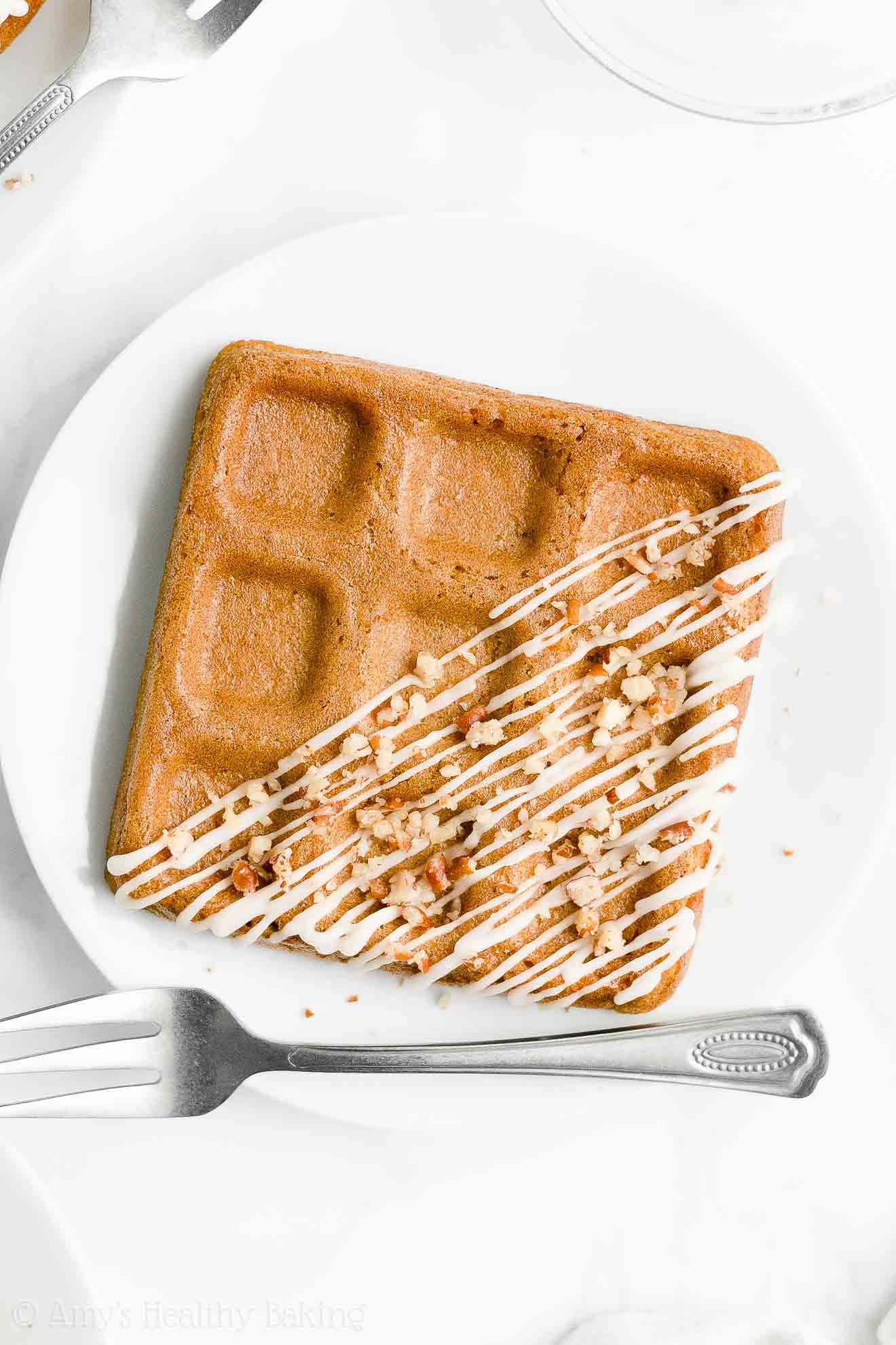 Best Easy Healthy Clean Eating Homemade Low Sugar Fluffy Carrot Cake Waffles