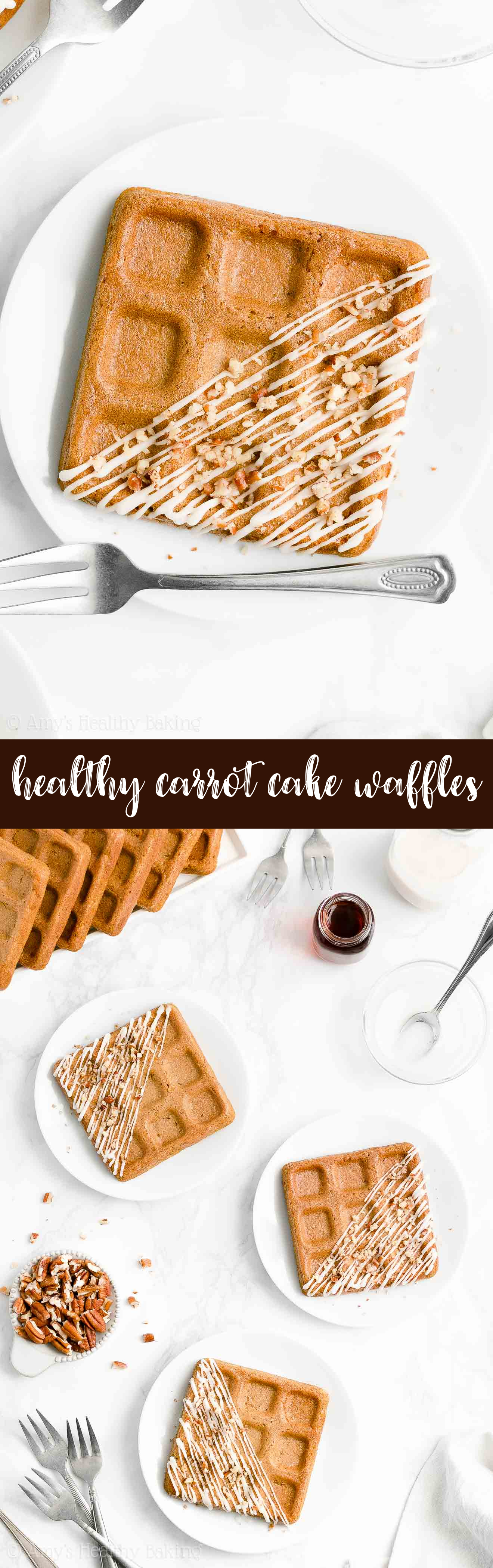 Best Ever Easy Healthy Clean Eating Low Calorie Crispy Fluffy Carrot Cake Waffles