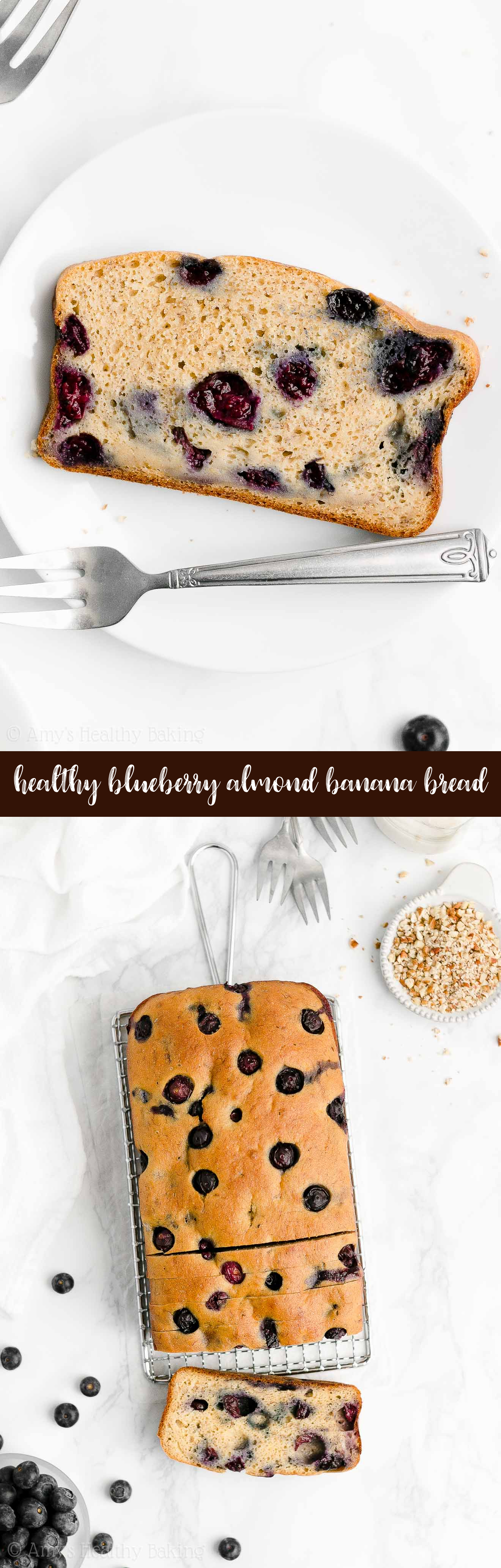 Best Easy Healthy Greek Yogurt No Sugar Moist Blueberry Almond Banana Bread