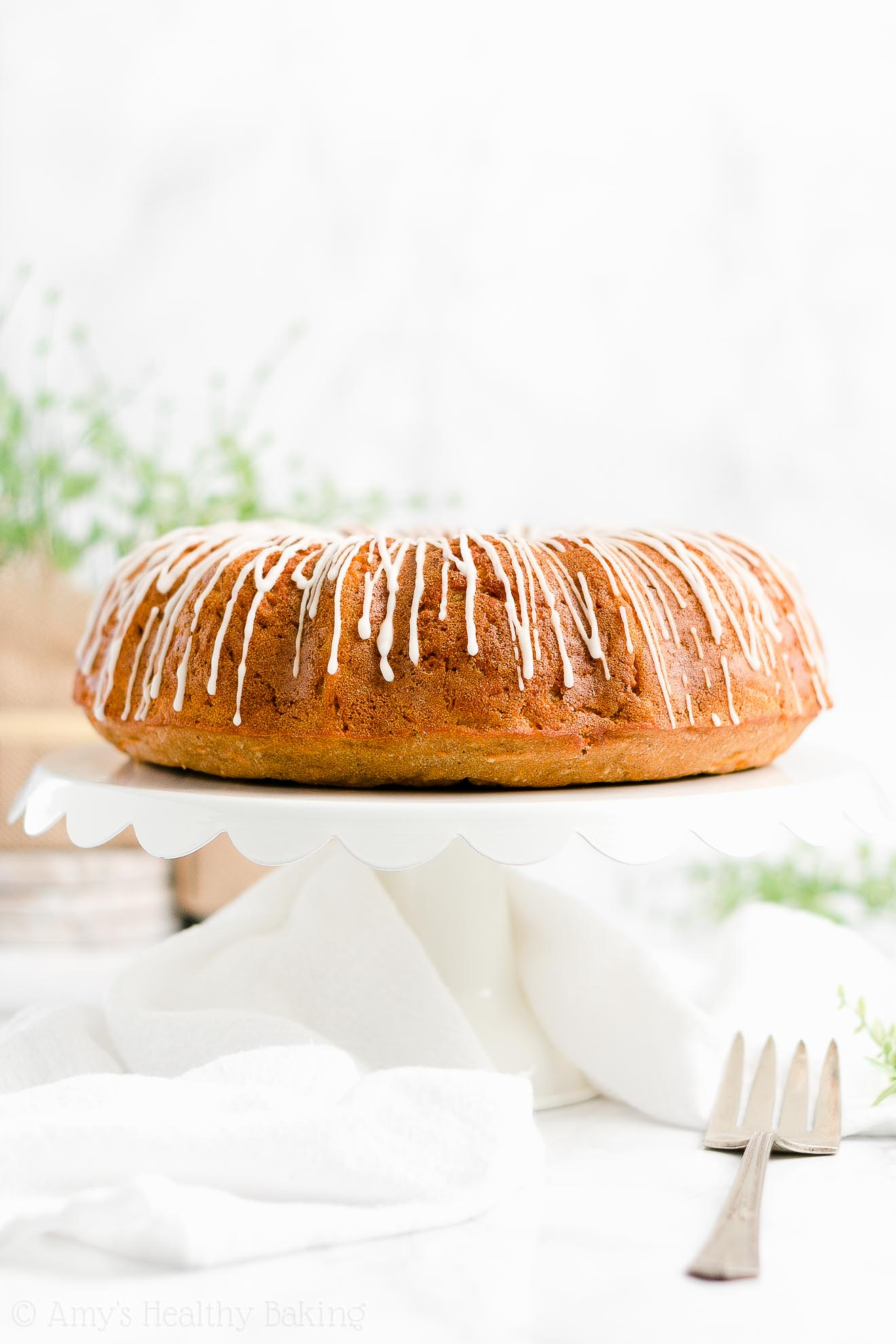 Best Easy Healthy Clean Eating Moist Greek Yogurt Carrot Bundt Cake
