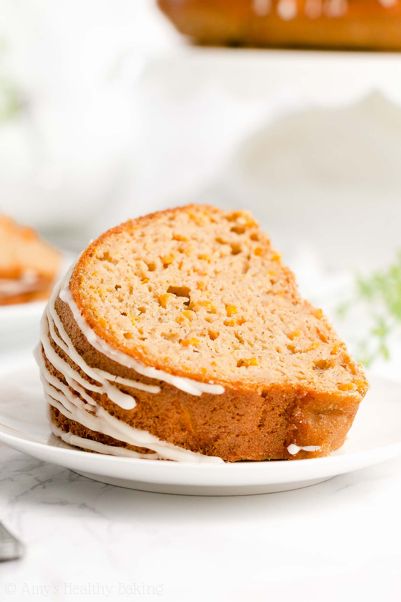 Best Easy Healthy Clean Eating Low Fat Sugar Free Moist Carrot Bundt Cake