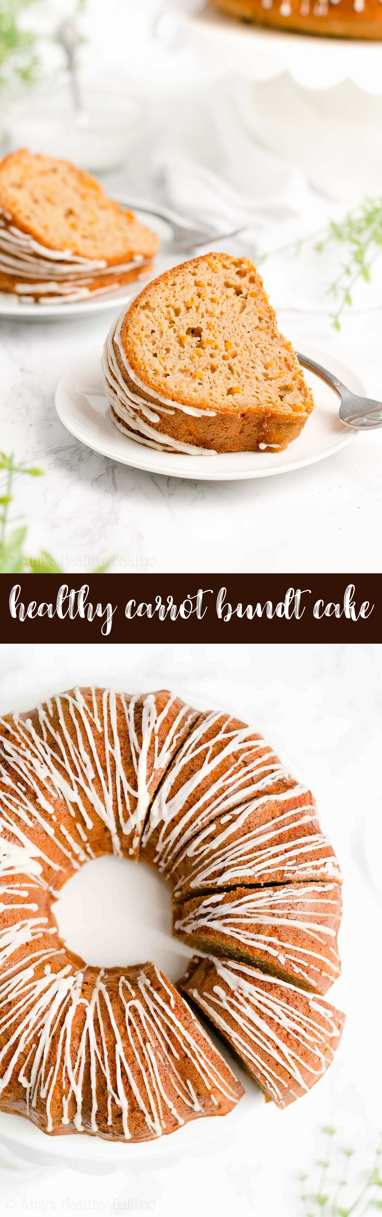 Best Ever Easy Healthy Clean Eating Moist Greek Yogurt Sugar Free Carrot Bundt Cake