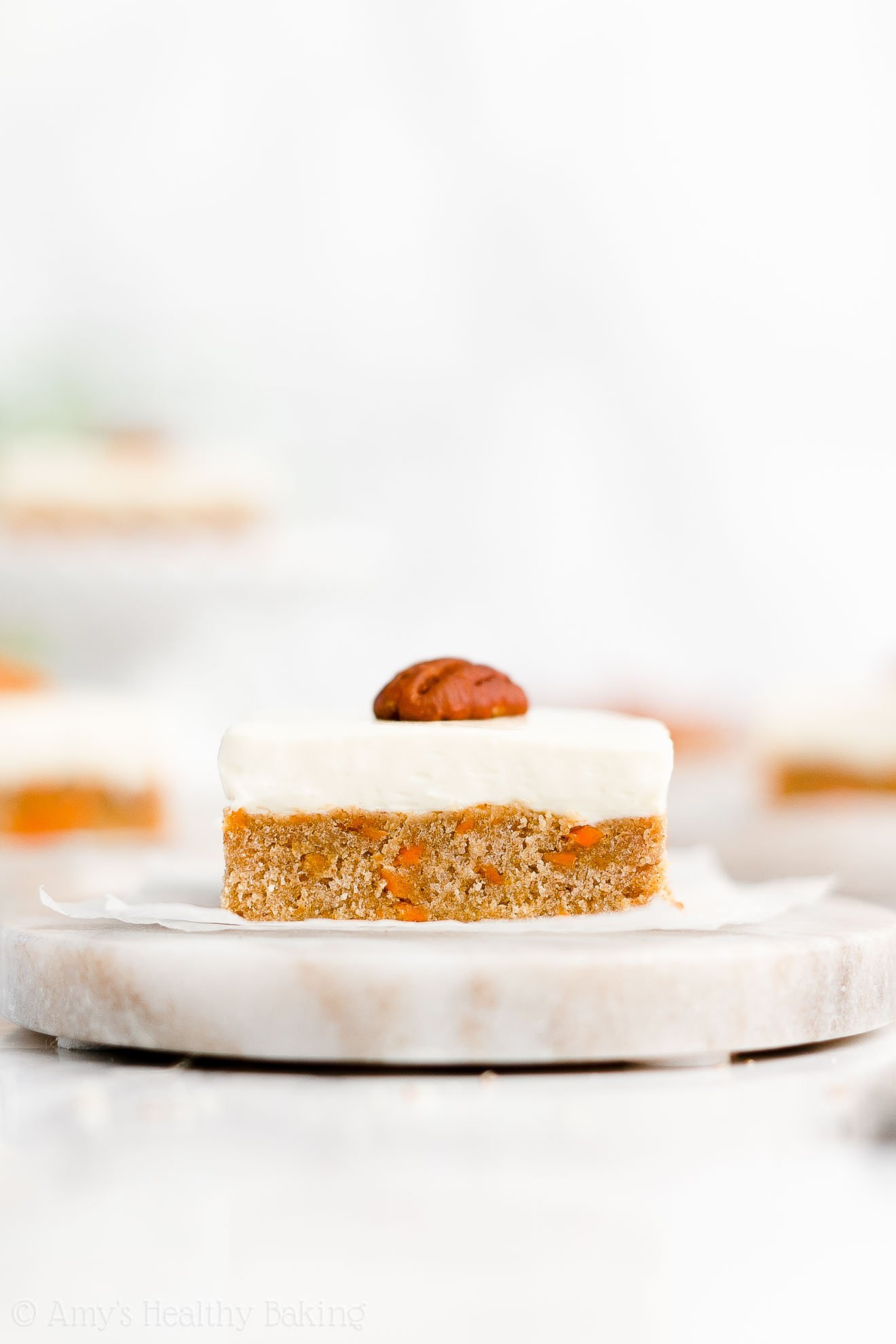 Easy Healthy Clean Eating Low Calorie Low Sugar Carrot Cake Cookie Bars