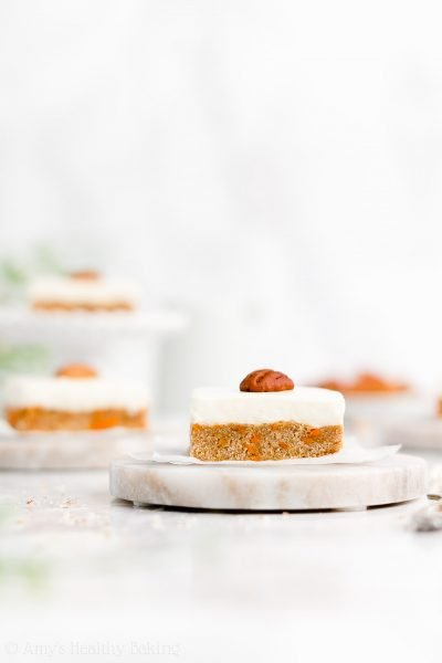 Healthy Carrot Cake Cookie Bars