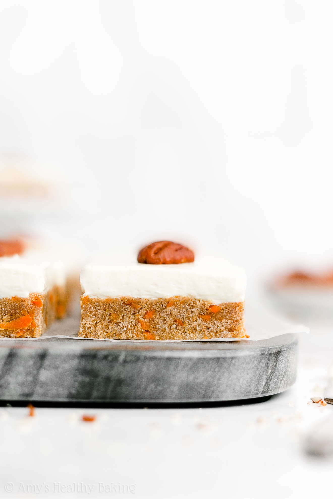 Easy Healthy Homemade Low Fat Clean Eating Carrot Cake Cookie Bars