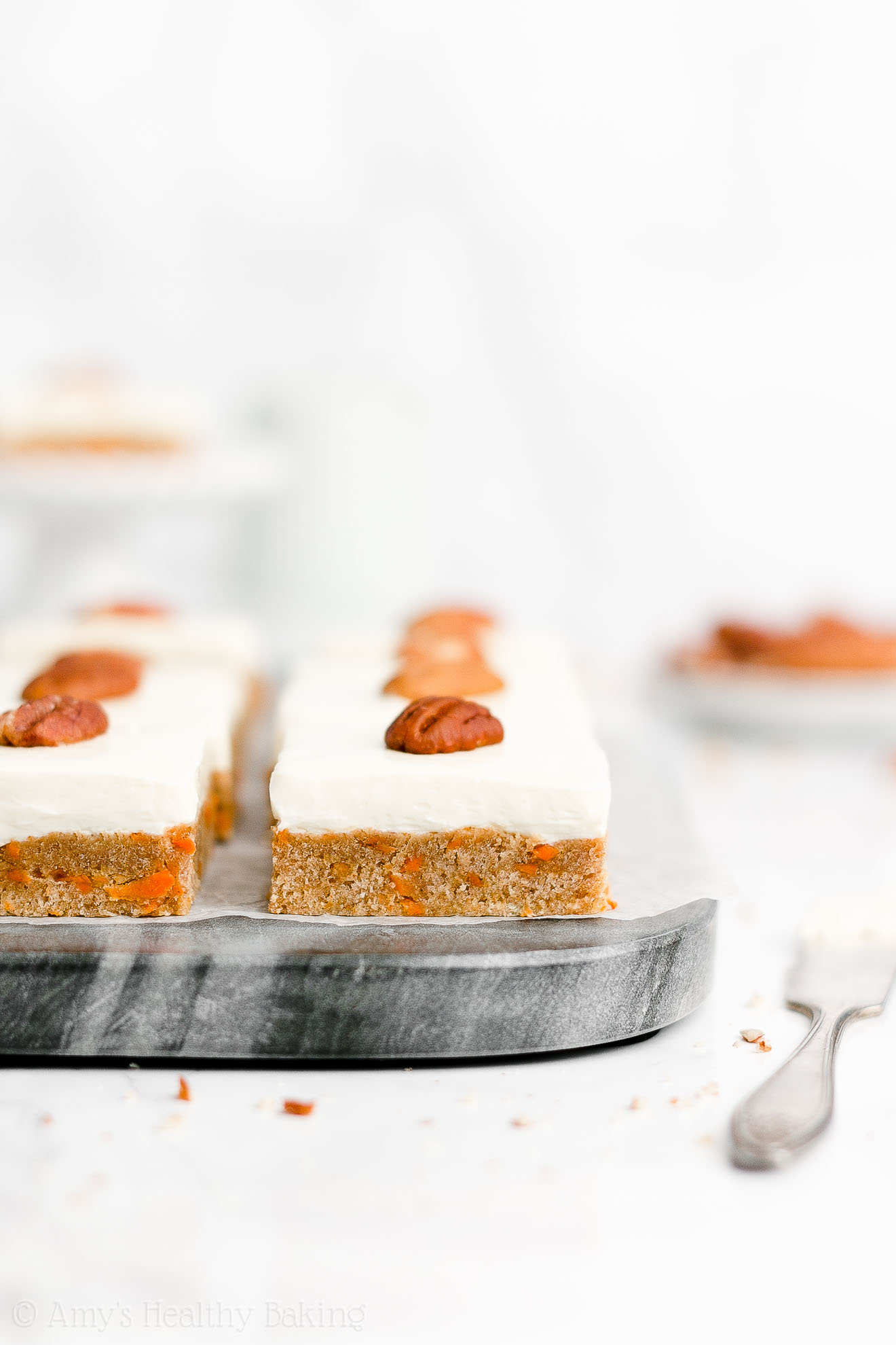 Easy Healthy Homemade Low Calorie Low Sugar Soft Carrot Cake Cookie Bars