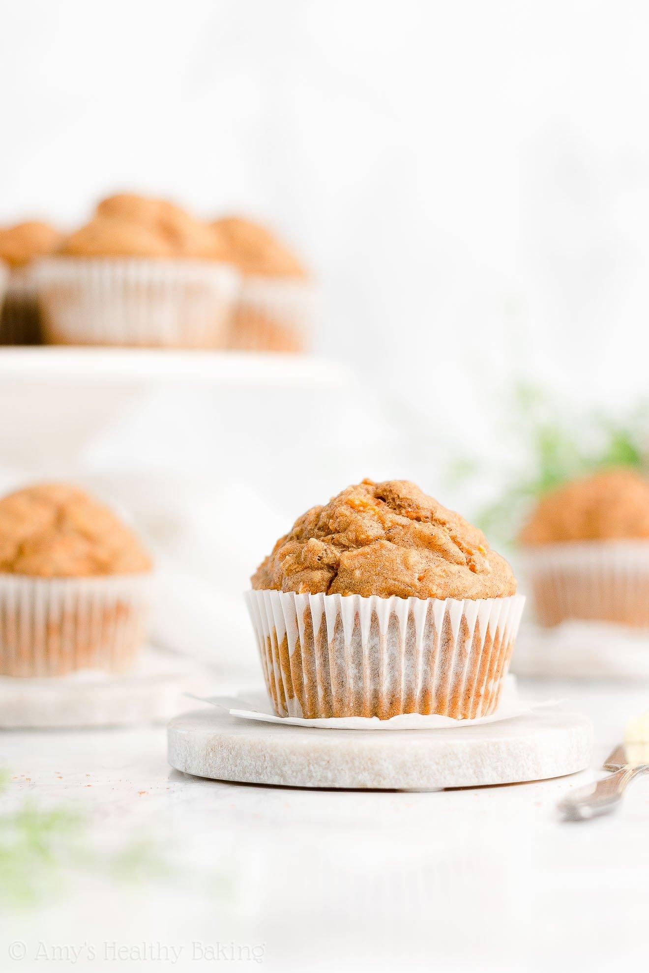 Best Easy Healthy Whole Wheat Low Fat Moist Carrot Cake Oatmeal Muffins