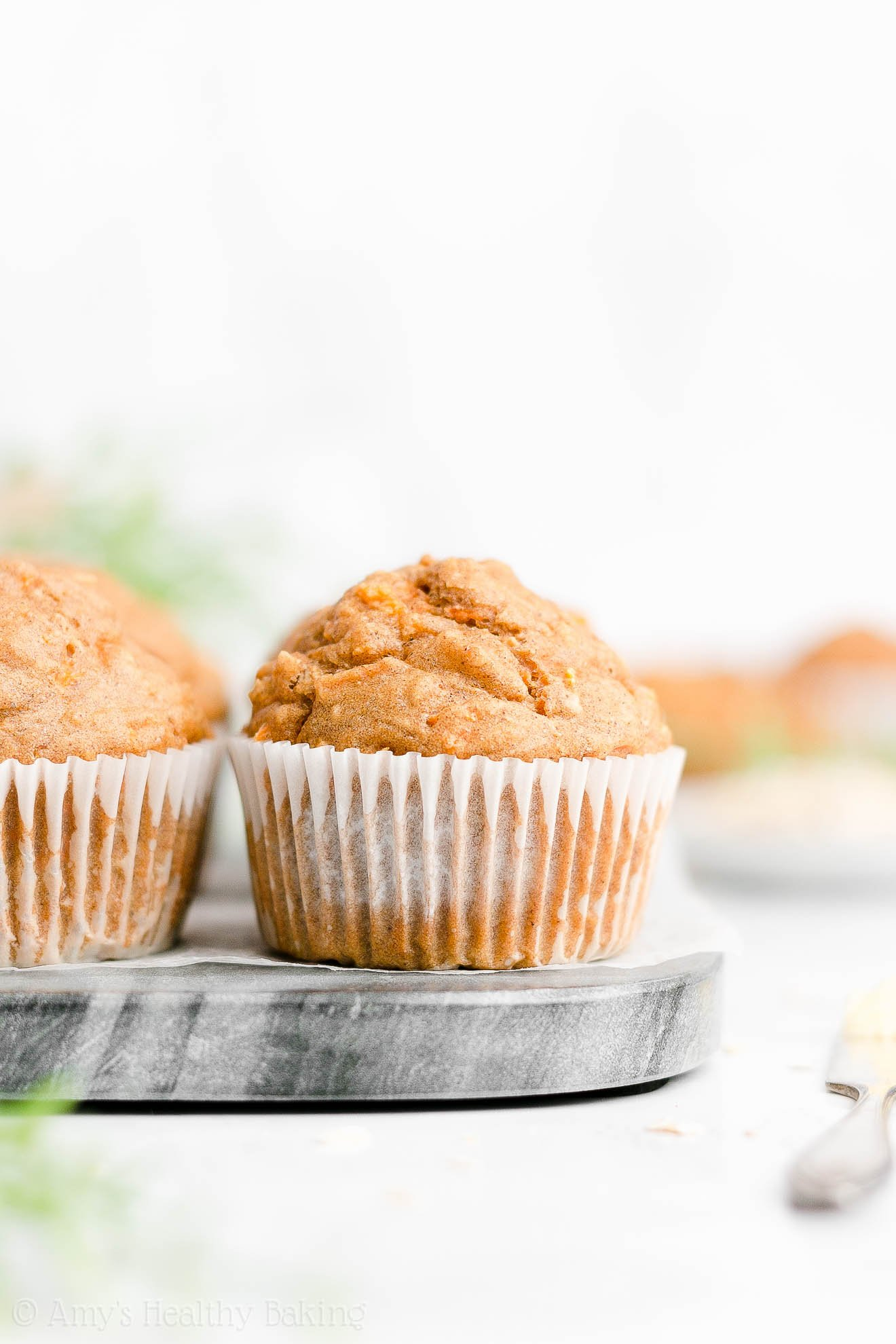 Best Easy Healthy Clean Eating Greek Yogurt Moist Carrot Cake Oatmeal Muffins