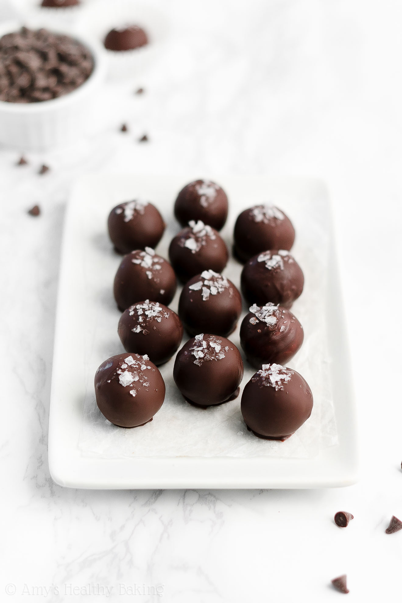 Easy Healthy Gluten Free No Bake Edible Chocolate Chip Cookie Dough Truffles