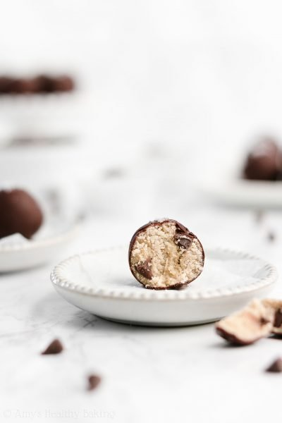 Healthy Chocolate Chip Cookie Dough Truffles