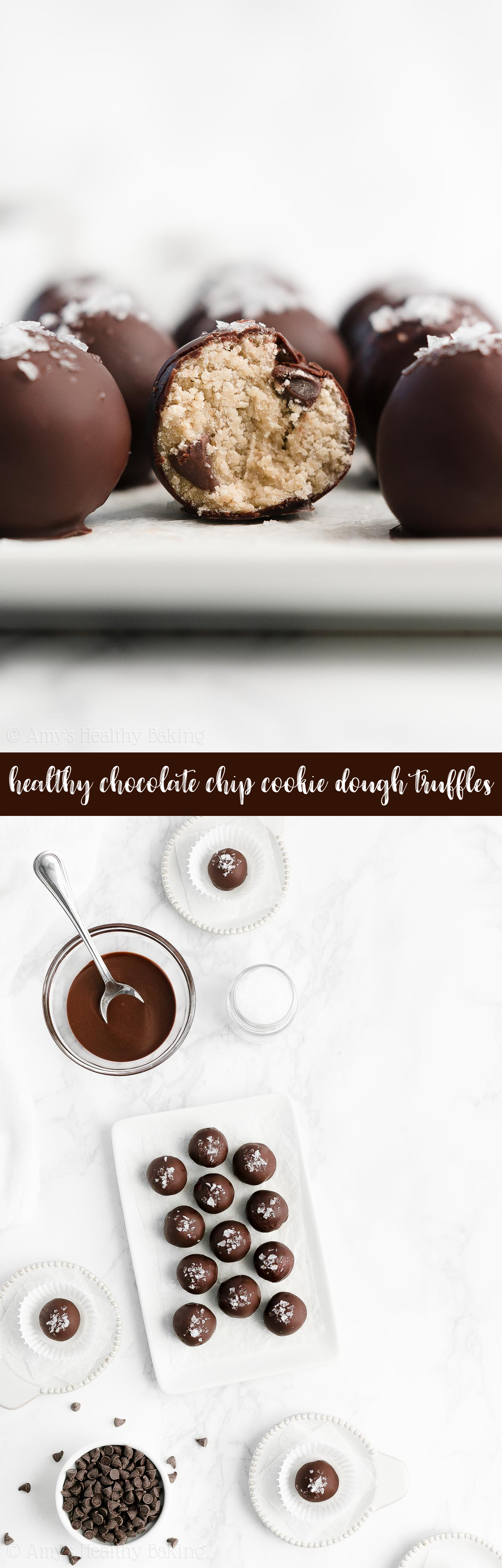Best Ever Healthy Gluten Free Vegan Eggless Chocolate Chip Cookie Dough Truffles