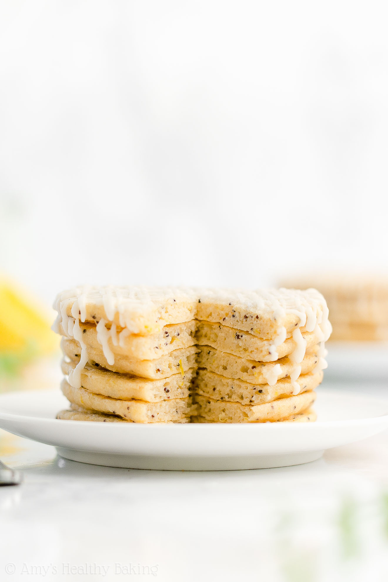 Best Easy Healthy Low Calorie Low Fat No Sugar Lemon Poppy Seed Pancakes
