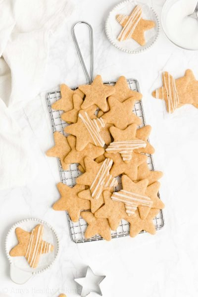 Healthy Vanilla Bean Sugar Cookies