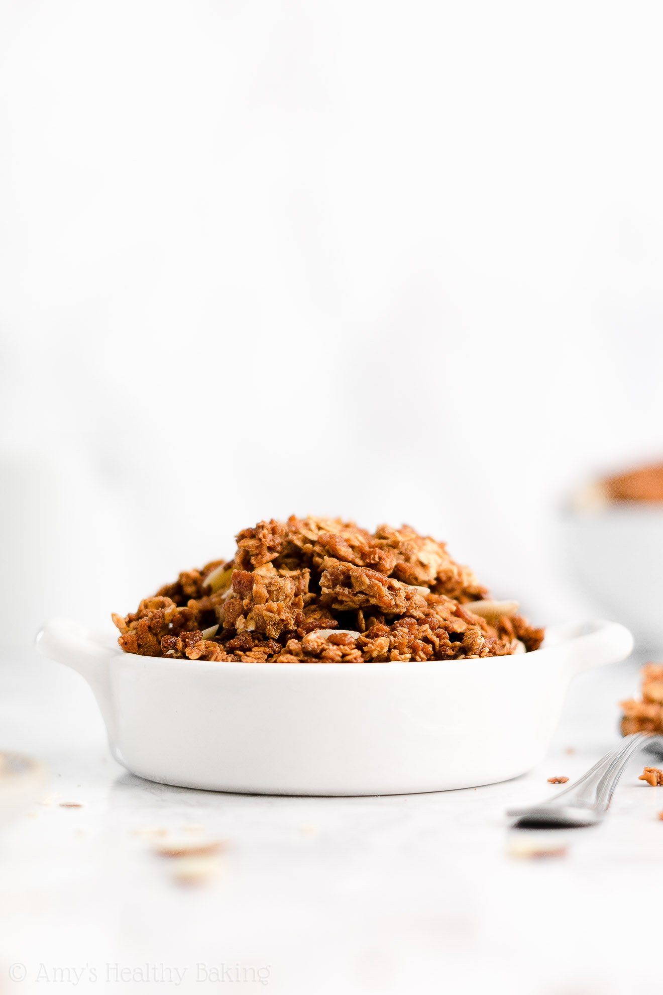 Easy Healthy Homemade Low Calorie Crunchy Clusters Almond Butter Granola