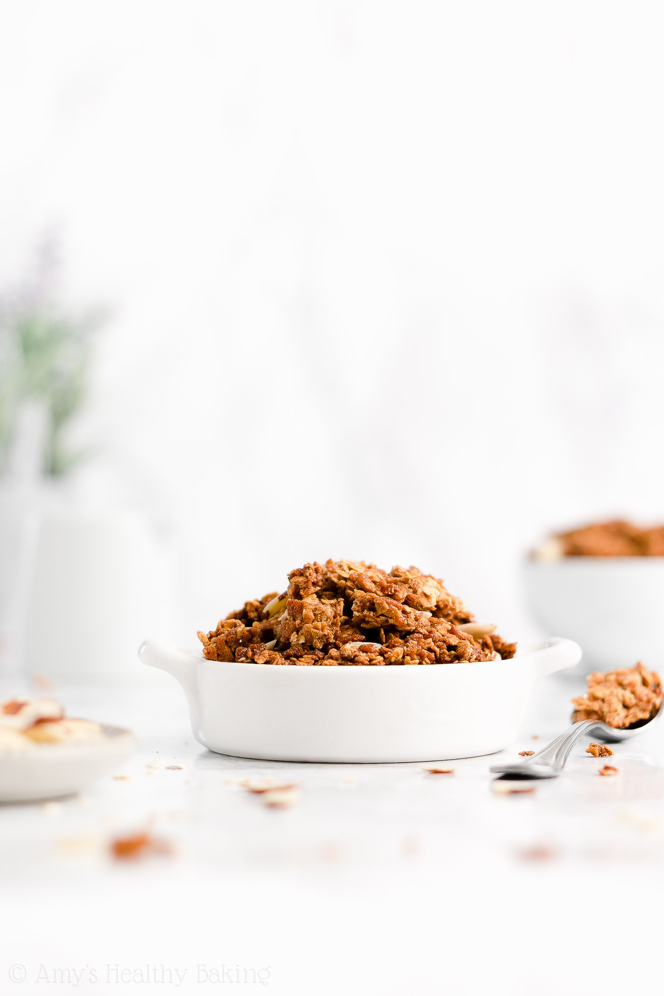 Easy Healthy Homemade Almond Butter Granola with Crunchy Clusters