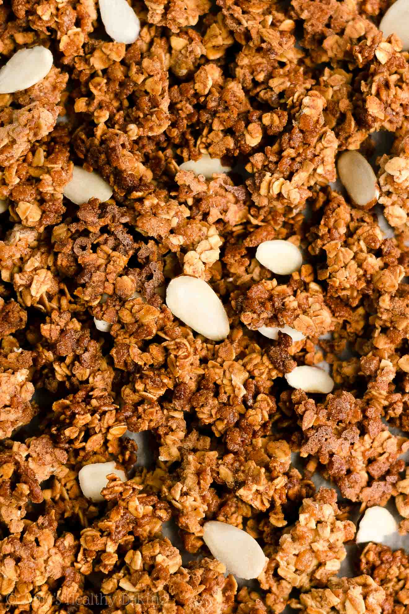 How To Make Easy Healthy Homemade Basic Almond Butter Granola Clusters